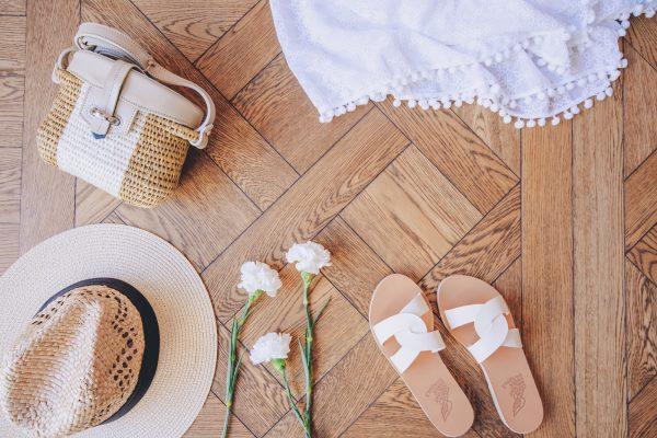 Boutique Marly Sandals, Hat & Bag